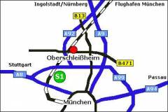 Grossansicht in neuem Fenster: Lageplan von Oberschleißheim